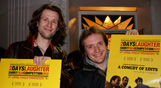 Photo of Dan Thompson (left) with JT Eaton (right) winners of the Best Short Film and Best Screenplay Awards for A Comedy Of Edits